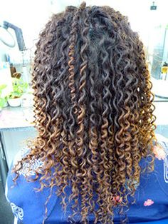 Long Hair Tight Curly Spiral Perm | von 10011011110010110100