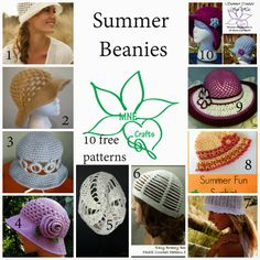 MNE Crafts: Summer Beanies - 10 Free Patterns