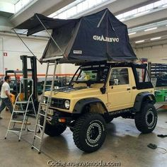 Truck Camper, Camper Van, Sidekick Suzuki, Samurai, Jimny Suzuki, Big Trucks, Camping Gear, Jeeps, Geo