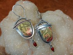 Arches - Cherry Creek Jasper and Sterling Silver Earrings