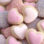 Mini Valentine Heart Cookies