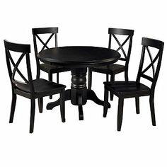 Home Styles Five-Piece Solid Color Round Pedestal Dining Set -- shopnbc.com