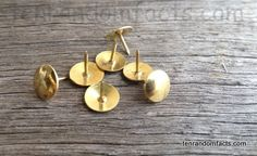 Contrary to popular belief, the thumbtack was invented as early as the mid 1870s, although the British term 'drawing pin' was in use sometime in the 1850s or 1860s, and patents exist for the item as early as the 1890s. Tack the facts to the board of http://tenrandomfacts.com/thumbtack/. #thumbtack #drawingpin #random #facts #trivia