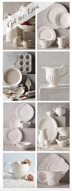 #anthrofaves white kitchen