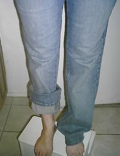 Jeans to Cuffed Capri's, with simple tutorial - CLOTHING - Knitting, sewing, crochet, tutorials, children crafts, papercraft, jewlery, needlework, swaps, cooking and so much more on Craftster.org