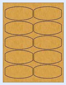Brown Kraft Honey Jar Labels