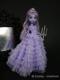 OOAK Monster High Repaint NYMPHADORA by Freddycreations - Don't think I'll get her this one... But thought it was pinworthy