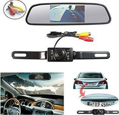 Ebest Car Vehicle Backup Camera /& Monitor Parking Assistance System 5 inch Car Rear View Folding Monitor With 8 LED Waterproof Night Vision rear view Camera Vehicle Parking reverse camera 10M power cable for Truck and Car