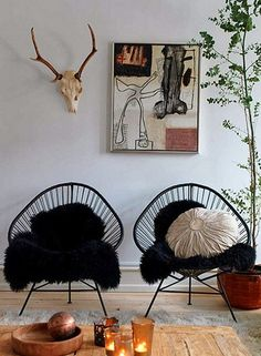 Méchant Design: at home with Betina Stampe - Had chairs like that once.