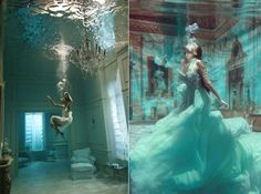 Regal Underwater Portraits - Phoebe Rudomino's Aquatic Photos Capture Homes Fully Submerged (GALLERY)