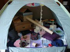 Tent free range area. Cool idea.