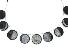 phases of the moon garland, the handmade classroom, etsy