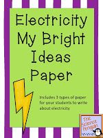 The Science Penguin: My Bright Ideas Electricity Writing Paper