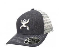 8fa797f398819 Hooey Storm Grey and White Snap Back Mesh Cap -- 1562T-GYWT