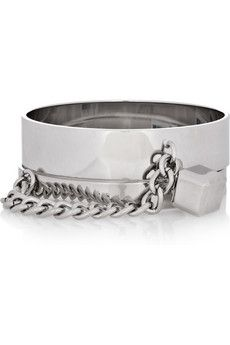 Marc by Marc Jacobs Collars And Cuffs silver-tone bracelets #fashion #jewelry @NET-A-PORTER Group LTD IT Careers