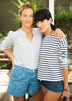 Carolyn Murphy and Athena Calderone wearing the ideal summer outfit