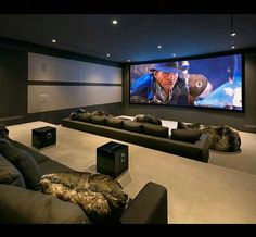 Impressive Basement home theater – So you are considering transforming your basement right into a home theater? Cellars are a perfect area for a home theater as the room has some natural benefits over others in your home. - Home Decor Home Theater Room Design, Movie Theater Rooms, Home Cinema Room, Home Theater Seating, Movie Rooms, Movie Theater Basement, Luxury Movie Theater, Home Theatre, Tv Rooms