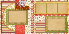 Double Layout Scrapbook pages by EZscrapbooks.com We offer designs in both Physical AND digital formats. Just add photos!