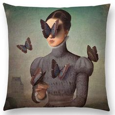 """Christian Schloe is a talented digital artist from Austria whose work combines painting, illustration, and photography. """"Each beautifully designed composition is a whimsical fantasy concocted… Composition Design, Photo Composition, Black And White Photography Portraits, Digital Portrait, Digital Illustration, Surrealism, Illusions, Pop Art, Pillow Covers"""