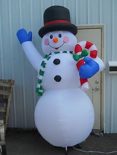 Gemmy 8 FT Inflatable Airblown Yard Decoration Light UP Christmas Snowman ST Christmas Snowman, Christmas Ornaments, Christmas Inflatables, Christmas Decorations, Holiday Decor, Outdoor Christmas, Light Up, Baby Items, Yard