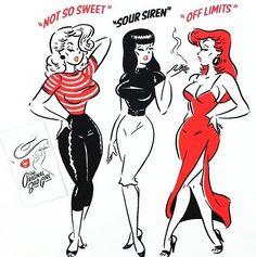 35 trendy tattoo ideas female inspiration pin up Vintage Cartoon, Vintage Comics, Vintage Art, Vintage Pins, Retro Kunst, Retro Art, Cartoon Kunst, Cartoon Art, Girl Cartoon