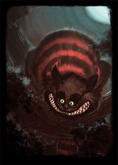 Alice in Wonderland - Chesire Cat by Collette Xavier Lewis Carroll, Cheshire Cat Art, Chesire Cat, Alice Sweet Alice, Kitsch, Creepy Cat, Alice Madness Returns, Steampunk, Fable