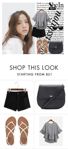 """""""Shein"""" by missbijou ❤ liked on Polyvore featuring Kate Spade, Billabong, WithChic, ZeroUV, kpop, Sheinside, BlackPink and shein"""