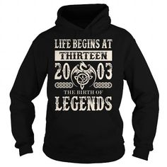 Cool #TeeFor2003 Life Begins in 2003… - 2003 Awesome Shirt - (*_*)