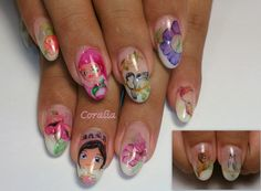 #nails #nailart #cartoons #aquarelle #handpainted