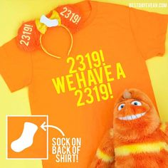 Monster's Inc We Have a 2319 Shirt (with a sock on the back!)- The perfect Monsters Inc shirt or Disney family shirt- George Sanderson Shirt Matching Disney Shirts, Disney Shirts For Family, Disney Family, Family Shirts, Run Disney, Disney Girls, Disney Pixar, Disney Magic, Monsters Inc Shirt