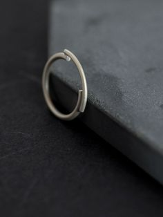 Architectural silver ring // Unique ring // minimal ring //