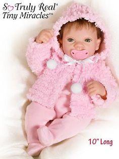 Smart Ashton-drake Tiny Mirical Jasmine Doll Size 10 Inch Dolls & Bears Art Dolls-ooak