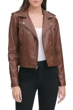 Suede Jacket, Moto Jacket, Winter Leather Jackets, Cold Weather Outfits, Celebrity Outfits, Trendy Outfits, Fashion Outfits, Clothing Items, Clothes For Women