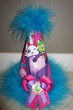 Shopkins Birthday Party Hat Favors Supplies fabric covered