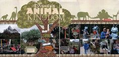 animal kingdom scrapbook layouts - Google Search