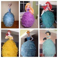 Disney Princess Pinata Elsa Anna Rapunzel Ariel and More | Etsy Disney Princess Birthday Party, Princess Theme Party, Cinderella Birthday, Frozen Birthday Party, Mermaid Birthday, Girl Birthday, Frozen Party, Superhero Cupcake Toppers, Princess Cupcake Toppers