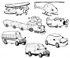 Transportation Stock Illustrations, Cliparts And Royalty Free . Coloring Books, Transportation, Royalty, Fox, Snoopy, Stock Photos, Cartoon, Comics, Stock Illustrations