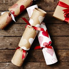 recycled heart christmas crackers by sophia victoria joy | notonthehighstreet.com