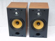 2-x-Bowers-Wilkins-B-W-DM-601-Series-II-Bi-Wire-Bookshelf-Loud-Speakers