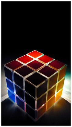 Rubik's Cube Light Rubiks Cube Algorithms, Custom Puzzles, Brain Teaser Puzzles, Rubik's Cube, Cube Puzzle, 30th Birthday Parties, Locked Wallpaper, Dark Photography, Cool Toys