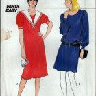 Vintage 1980s Butterick 4793 Shift Dress -  Fast and Easy