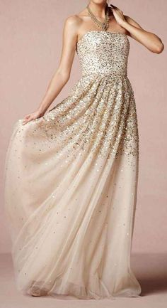 The way this dress is practically made of glitter. | 50 Gorgeous Wedding Dress Details That Are Utterly To Die For