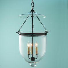Clear Glass Smoke Bell Lantern