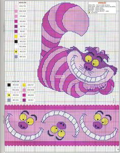 Alice in wonderland Cheshire Cat border