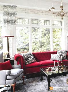 Living Room Ideas Red And White you had me at grey! | black furniture, red accents and bedrooms