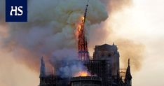 TOPSHOT - The steeple and spire of the landmark Notre-Dame Cathedral collapses as the cathedral is engulfed in flames in central Paris on April - A huge fire swept through the roof of the. Get premium, high resolution news photos at Getty Images Spire, Saint Chapelle, Fire Video, Paris Match, Saint Louis, French Revolution, Victor Hugo, Gothic Architecture, Architecture Design