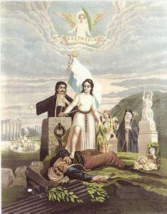 Ο θούριος του Ρήγα Propaganda Posters, Image, Painting, Gustav Klimt, Greek History, Art, Mythology, Pictures, Poster