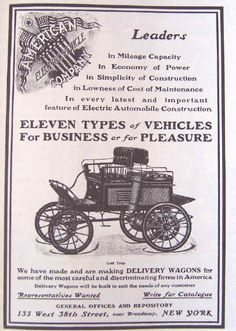 1901 American Electric Automobile Advertisement