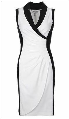 Joseph ribkoff dress black and white stripe