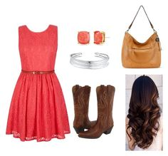 """""""Barn Dance"""" by esther-benge ❤ liked on Polyvore featuring Yumi, Ariat, The Sak, Kate Spade and Belk Silverworks"""